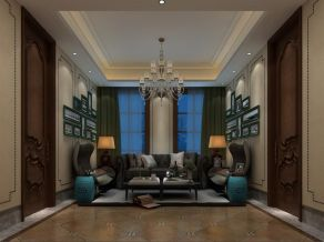 高贵风雅客厅细节装修实景图片