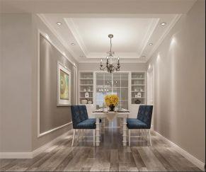 清爽白色餐厅室内效果图