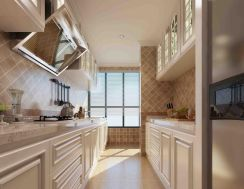 朴素温馨暖色系橱柜效果图图片
