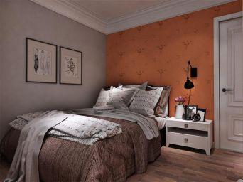 时尚美式暖色系床装修方案