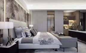 简约中式灰色沙发家装设计图