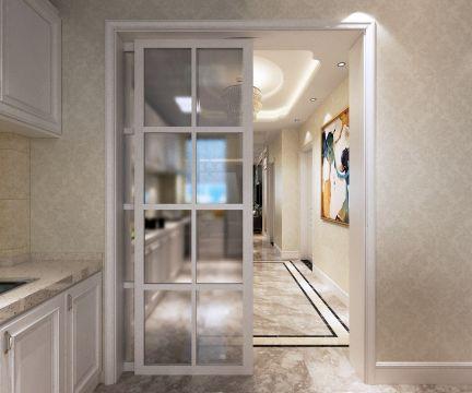 简洁白色厨房设计效果图