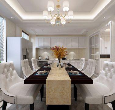 低调优雅餐厅餐桌设计效果图