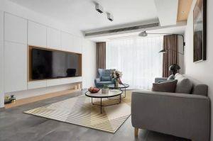 2021现代客厅装修设计 2021现代照片墙装修效果图大全
