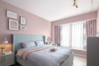 北欧卧室飘窗装潢设计图片