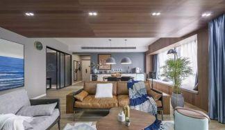150平米自然簡約風裝修,打掉一面墻,換來45平米寬敞通透客餐廳!