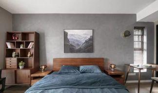 简约卧室背景墙装修图片