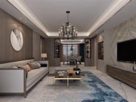 客厅米色地板室内装修图片