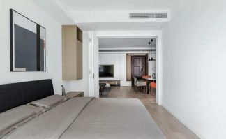 奢华大气卧室地板砖装饰实景图片