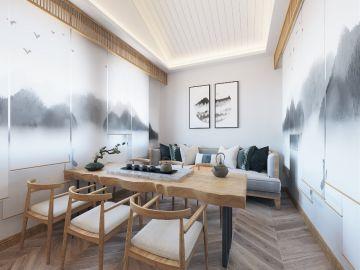 2019新中式阳光房设计图片 2019新中式背景墙装修设计图片