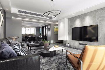 2021后现代客厅装修设计 2021后现代电视背景墙装修设计图片