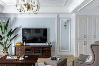 个性客厅美式装潢实景图片
