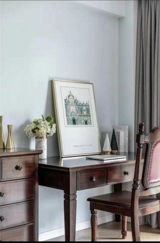 书房彩色书桌设计图欣赏