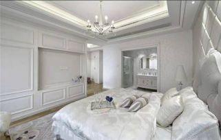 典雅白色床装饰效果图