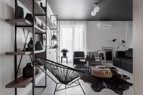 个性黑色客厅装潢设计图片