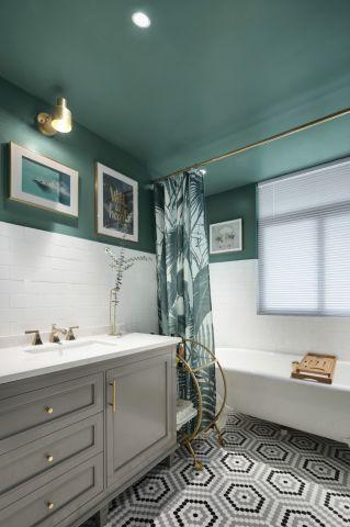 潮流灰色浴室柜装修案例图片