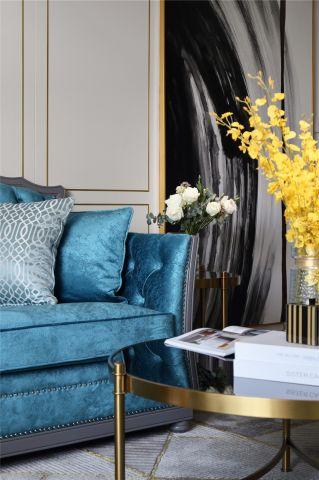 古朴客厅沙发平面图