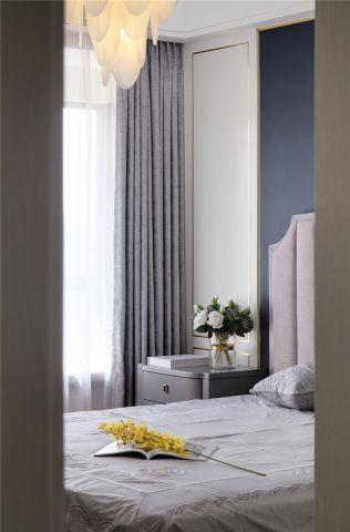 卧室背景墙美式实景图