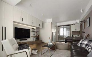 110平米现代主义3室2厅,电视背景墙还能这样设计!