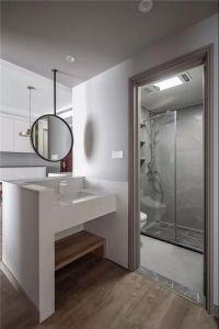 卫生间白色细节装饰设计