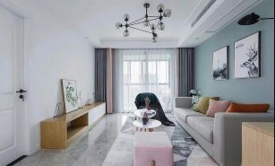 87平現代北歐三居室,全屋太清爽漂亮了,尤其喜歡陽臺!