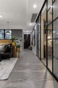 100平米現代主義3室2廳,簡約隨性演繹質感生活