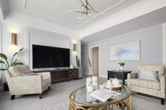 时尚米色客厅装饰图片