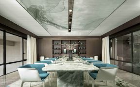 设计优雅白色餐厅装修效果图大全