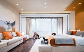 卧室落地窗现代简约室内装饰