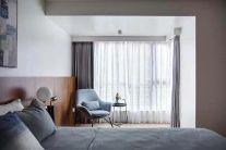 温馨冷色系卧室家装设计图