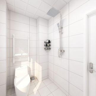 干净现代简约白色地砖装修图
