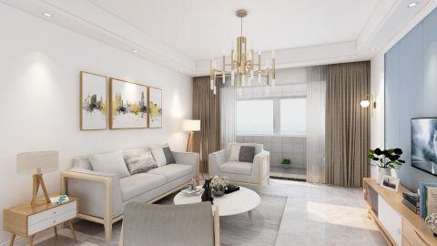 现代简约客厅沙发装修案例图片