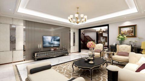 2021欧式客厅装修设计 2021欧式电视背景墙装修设计图片