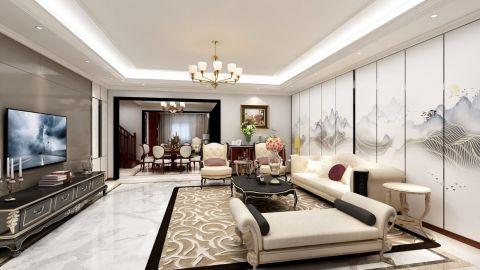 客厅米色沙发装修案例效果图