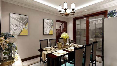 客厅金色灯具装修美图