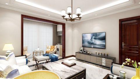 舒适白色客厅装饰实景图片