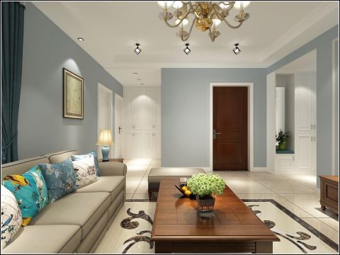 清新客厅沙发效果图大全