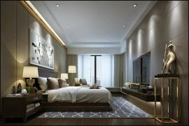 现代简约客厅背景墙装饰实景图
