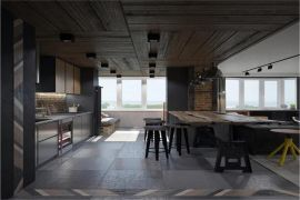 2021工业餐厅效果图 2021工业背景墙装修图