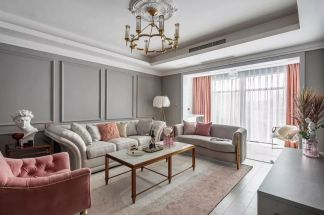 126平米輕奢美式3室2廳,打造一見傾心的優雅風范