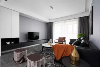 138平米現代主義3室2廳,高級黑白灰詮釋大宅風范