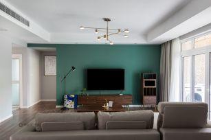 典雅绿色客厅家装设计