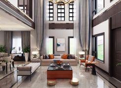 简洁白色客厅装修效果图欣赏