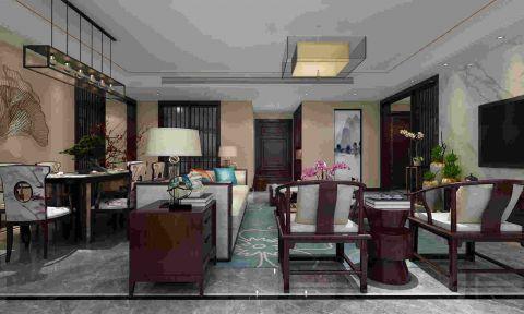 2021新中式客厅装修设计 2021新中式地砖装修效果图大全