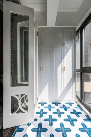摩登现代简约绿色橱柜装饰实景图片