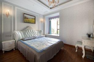 清新素丽白色卧室装修实景图