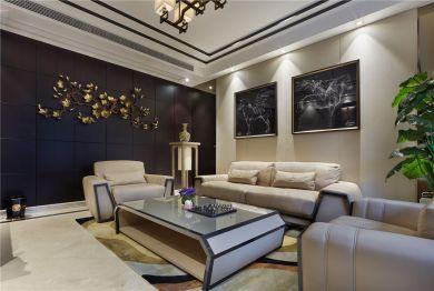 2021新中式起居室装修设计 2021新中式背景墙装修设计图片