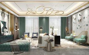 浪漫绿色客厅装饰实景图片