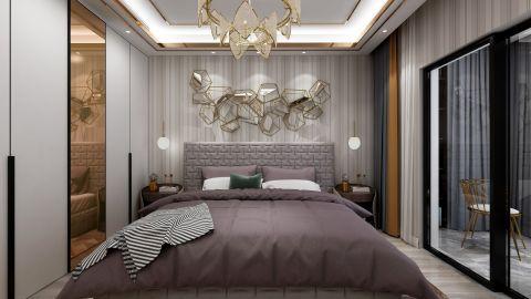 优雅现代白色床装修案例效果图