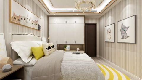 自然米色卧室室内效果图